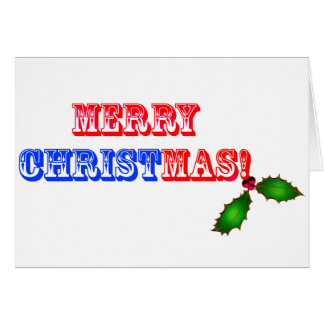 Merry Christmas #1 Greeting Card