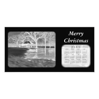 Merry Christmas 2011 Calendar Personalised Photo Card