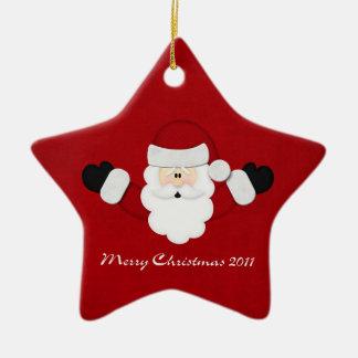 Merry Christmas 2011 Ceramic Star Decoration