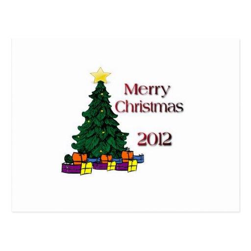 Merry Christmas 2012 Postcard