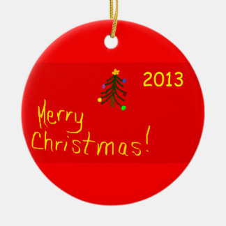 Merry Christmas 2013 Round Christmas Ornament