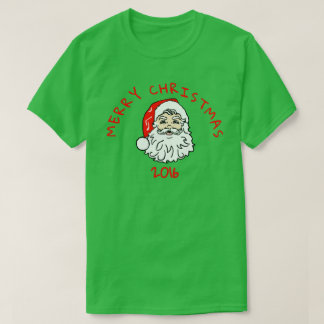 Merry Christmas 2016 Santa Claus With White Beard T-Shirt