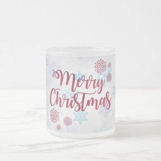 Merry Christmas 2 Frosted Glass Coffee Mug