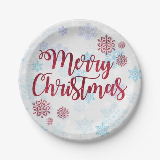 Merry Christmas 2 Paper Plate