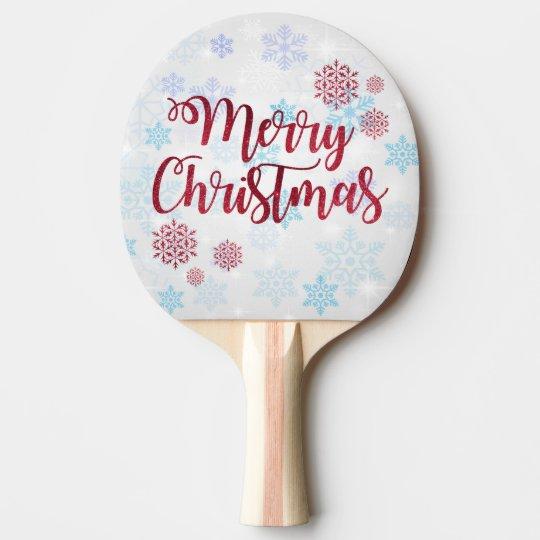 Merry Christmas 2 Ping Pong Paddle