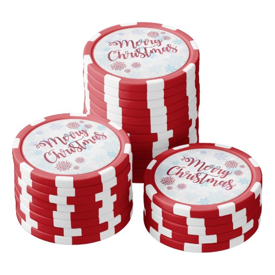 Merry Christmas 2 Poker Chips