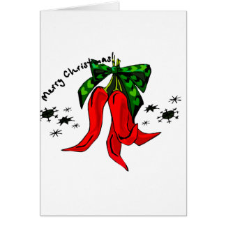 merry christmas 2 red pepper design note card