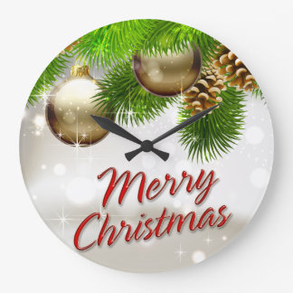 Merry Christmas 39 Wall Clock Options