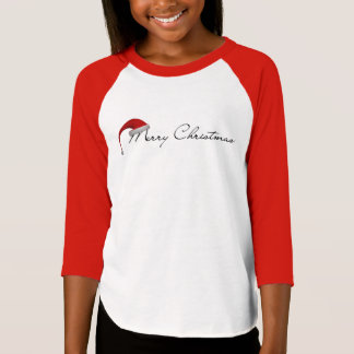 Merry Christmas 3/4 Sleeve Kids T-Shirt