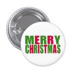 Merry Christmas 3 Cm Round Badge