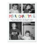 Merry Christmas 3 photo Holiday Card 13 Cm X 18 Cm Invitation Card