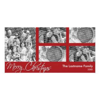 Merry Christmas - 5 photo collage - Photo Card