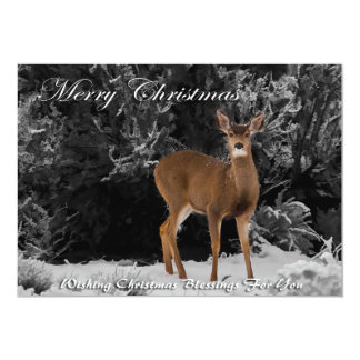 MERRY CHRISTMAS 6 5X7 PAPER INVITATION CARD