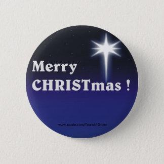 Merry CHRISTmas ! 6 Cm Round Badge