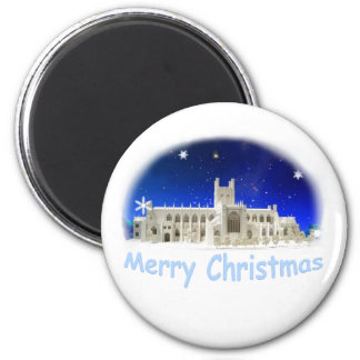Merry Christmas 6 Cm Round Magnet