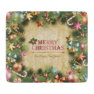 Merry Christmas 74 Glass Cutting Boards