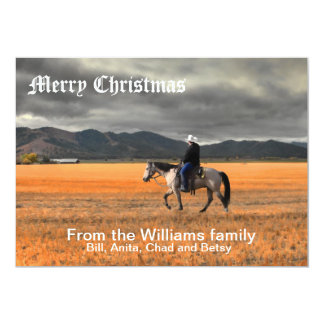 MERRY CHRISTMAS 8 5X7 PAPER INVITATION CARD