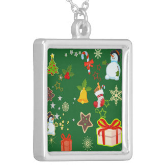 merry Christmas 917 Silver Plated Necklace