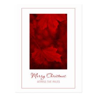 Merry Christmas Across the Miles Postcard