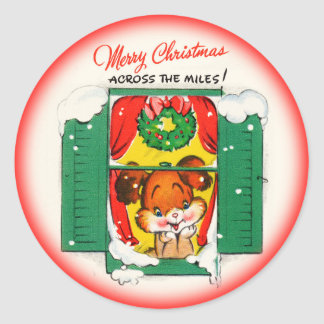 Merry Christmas Across the Miles Sticker