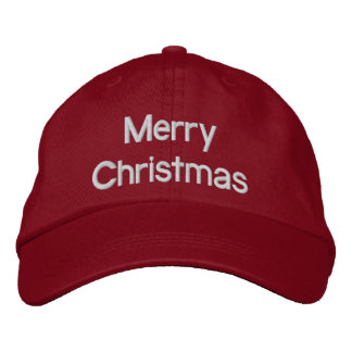 Merry Christmas - Adjustable Hat Embroidered Baseball Caps