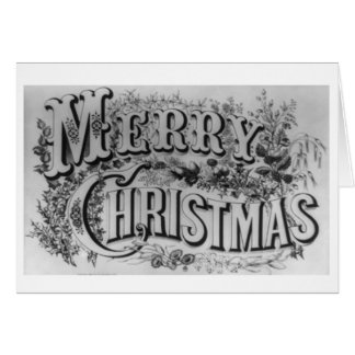 Merry Christmas Adult colouring grayscale XmasCard Card