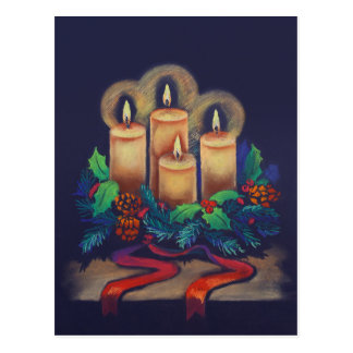 Merry Christmas - Advent Wreath for you! Postcard