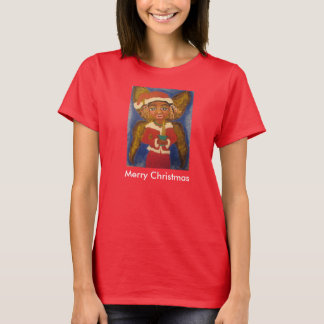 Merry Christmas African American Black Art Tshirt