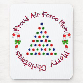 Merry Christmas Air Force Mom Mouse Pad