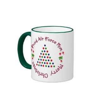 Merry Christmas (Air Force Mom) Ringer Mug