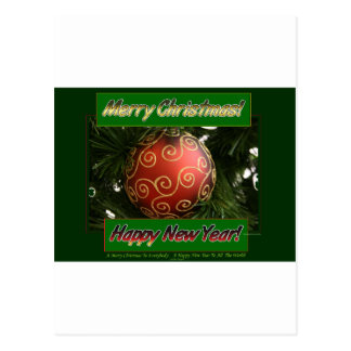 Merry Christmas amp Happy New Year Postcards
