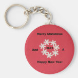 Merry Christmas and a Happy New Year 2013 Keychains
