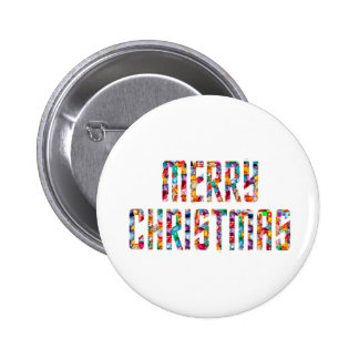 MERRY Christmas and a HAPPY NEW YEAR 2014 6 Cm Round Badge