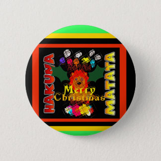 Merry Christmas and a Happy New Year 6 Cm Round Badge