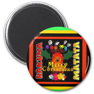 Merry Christmas and a Happy New Year 6 Cm Round Magnet