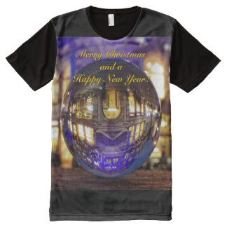 Merry Christmas and a Happy New Year All-Over Print T-Shirt