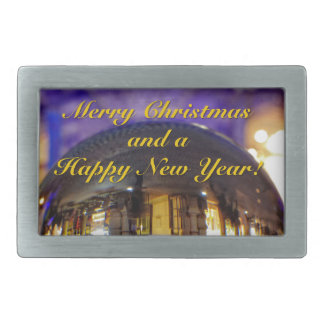 Merry Christmas and a Happy New Year Belt Buckle
