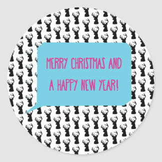 MERRY CHRISTMAS AND A HAPPY NEW YEAR! CLASSIC ROUND STICKER