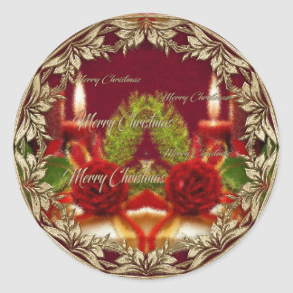 Merry Christmas and a Happy New Year Classic Round Sticker