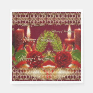 Merry Christmas and a Happy New Year Disposable Serviettes
