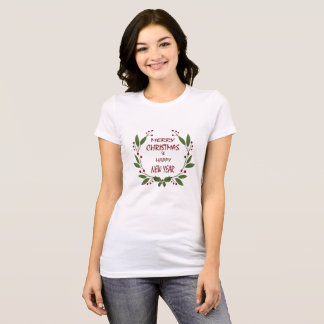 Merry Christmas and a Happy New Year Female Shirt