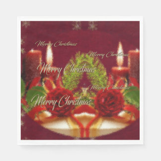 Merry Christmas and a Happy New Year Paper Serviettes