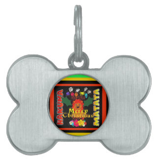 Merry Christmas and a Happy New Year Pet Tags