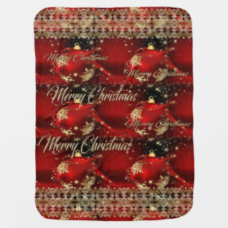 Merry Christmas and a Happy New Year Receiving Blanket