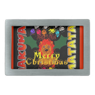 Merry Christmas and a Happy New Year Rectangular Belt Buckle