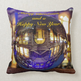 Merry Christmas and a Happy New Year Throw Pillow