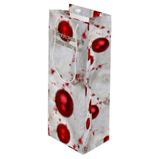 Merry Christmas and a Happy New Year Wine Gift Bag