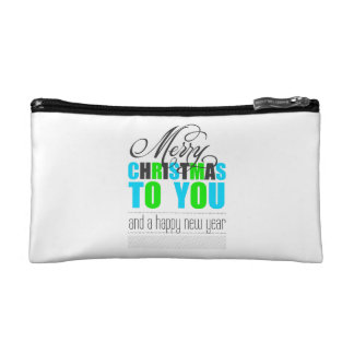 Merry Christmas and happy new to year Cosmetic Bags