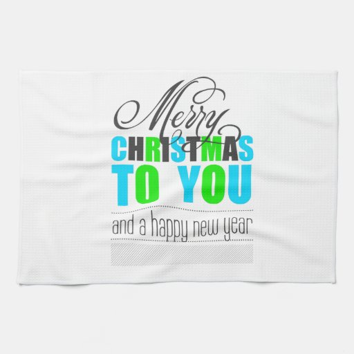Merry Christmas and happy new to year Hand Towels