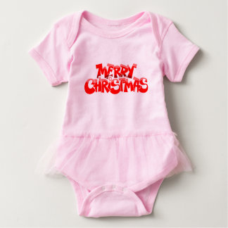 merry christmas and happy new year baby bodysuit